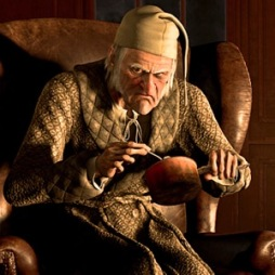 A CHRISTMAS CAROL, Scrooge (voice: Jim Carrey), 2009. ©Walt Disney Studios Motion Pictures/Courtesy Everett Collection