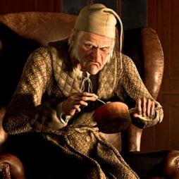 A CHRISTMAS CAROL, Scrooge (voice: Jim Carrey), 2009. ©Walt Disney Studios Motion Pictures/Courtesy Everett Collection